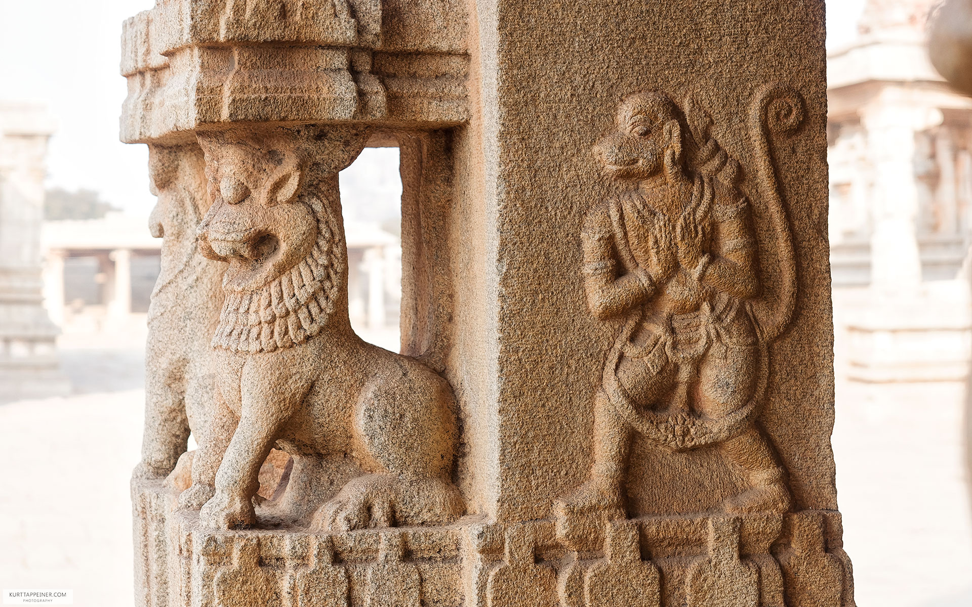 Stone Carved Sculptures - Hampi