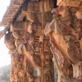 Fragment Carving On Stone Rider Horse - Hampi