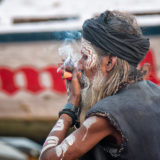 Lord Shiva Smoking Ganja