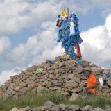 Mongol shamanic ovoo