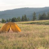Wild camping in Mongolia